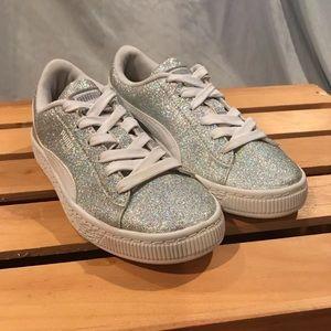 "Puma Basket ""Glitz"" Glitter Shoes Size 13C"